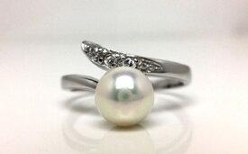 【ふるさと納税】老舗の真珠専門店・高品質アコヤ真珠リング6.5〜7.0ミリ フリーサイズ