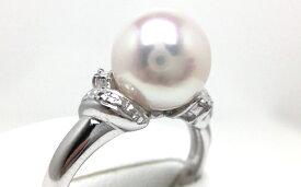 【ふるさと納税】老舗の真珠専門店・高品質アコヤ真珠リング9.0〜9.5ミリ