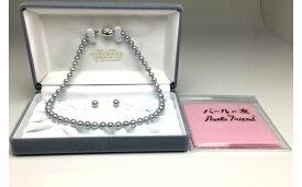 【ふるさと納税】老舗の安心高品質・アコヤ真珠ブルーネックレスセット7.0〜7.5ミリ
