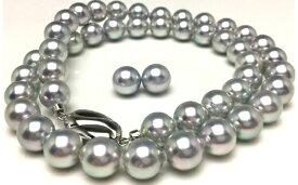 【ふるさと納税】老舗の真珠専門店・高品質アコヤ真珠ブルーネックレスセット8.0〜8.5mm