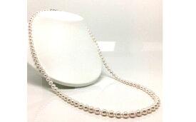 【ふるさと納税】老舗の真珠専門店・良質アコヤ真珠ロングネックレス 7.0〜7.5ミリ 80cm