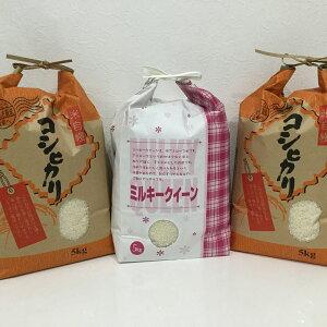 【ふるさと納税】滋賀県産 特別栽培米コシヒカリ5kg×2 環境こだわり米ミルキークイーン5kgセット(合計15kg)※着日指定はできません。