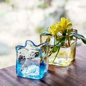 【ふるさと納税】黒壁ガラス工房 オリジナルスクエア花器※着日指定はできません。