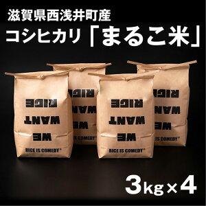【ふるさと納税】滋賀県西浅井町産コシヒカリ「まるこ米」3kg×4