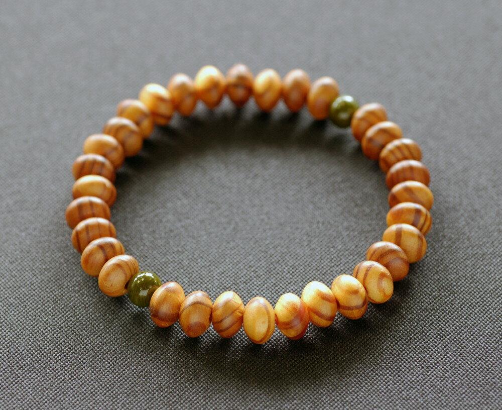 【ふるさと納税】滋賀県伝統的工芸品認定の木珠 近江の数珠職人のブレスレット