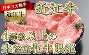 【4等級以上の未経産牝牛限定】近江牛肩ロースすき焼き500g