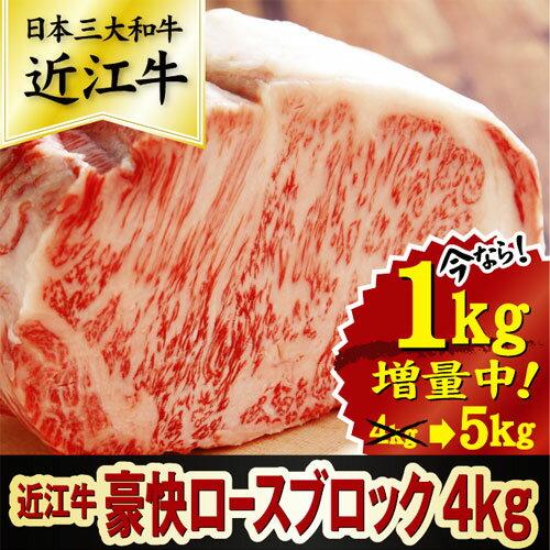 【ふるさと納税】【総本家肉のあさの】近江牛豪快ロースブロック AE999_a