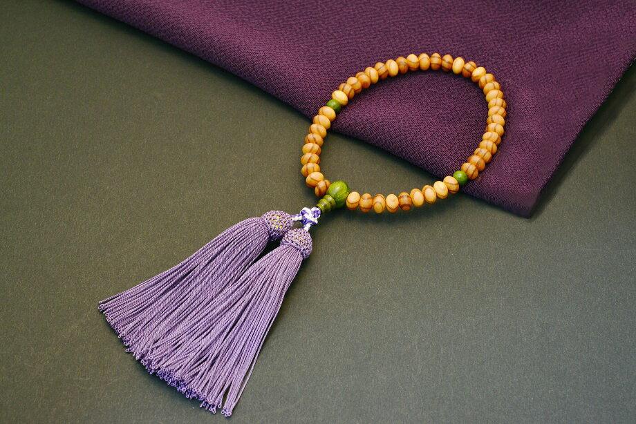 【ふるさと納税】【期間限定10/31まで】1400年の歴史を誇る近江の数珠職人が手掛けた念珠(女性用)F002_a