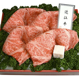 【ふるさと納税】近江牛A5ランクロースすき焼き・しゃぶしゃぶ用600g 【牛肉・お肉】
