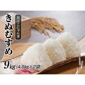 【ふるさと納税】近江こにゃん米「きぬむすめ」9kg(4.5kg×2) 【米/きぬむすめ】