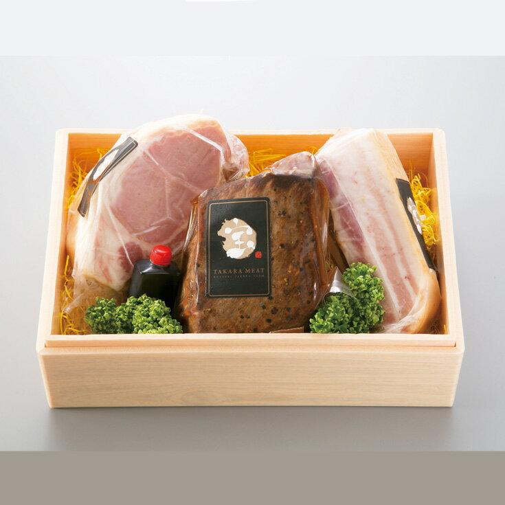 【ふるさと納税】【T-303】宝牧場 近江牛ローストビーフとみるく豚ハムセット