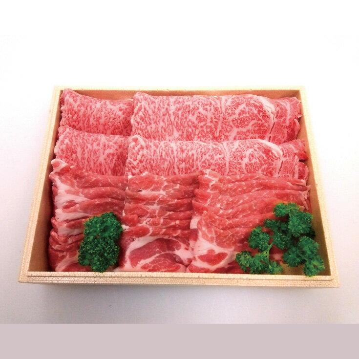 【ふるさと納税】【T-305】宝牧場 近江牛ロースすき焼き用・みるく豚スライス