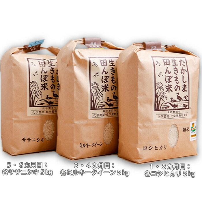 【ふるさと納税】【T-510】グリーン藤栄 生きもの田んぼ米食べ比べコース【頒布会6カ月】