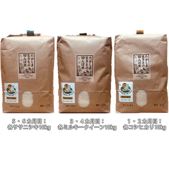 【ふるさと納税】【T-511】グリーン藤栄 生きもの田んぼ米食べ比べコース【頒布会6カ月】
