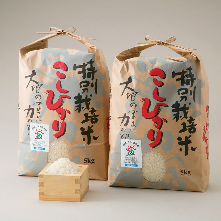 【ふるさと納税】【T-521】よこいファーム 特別栽培米コシヒカリA(平成30年産新米)