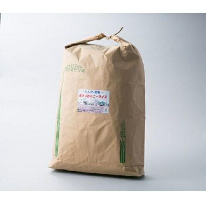 【ふるさと納税】e5 ハニーライス白米 キヌヒカリ30kg(精米後26kg位になります) ※精米サービスします。(提供)農事組合法人 万葉の郷 ぬかづか