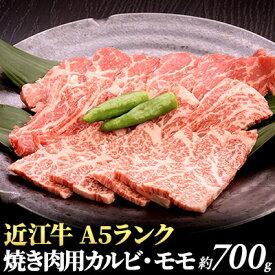 【ふるさと納税】近江牛A5ランク焼き肉用カルビ・モモ700g【納期1〜2カ月】 【牛肉・お肉・牛肉・お肉・牛肉・お肉】