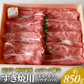 【ふるさと納税】近江牛A5ランク すき焼用 約850g(モモ・カタ・ウデ・バラ系等) 【お肉・牛肉・すき焼き】 お届け:お盆・年末年始の出荷不可。8月・12月の申込みは、翌月配送となる場合がございます。