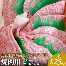 【ふるさと納税】近江牛A5ランク 焼肉用 約1.25kg (リブロース・サーロイン等) 【お肉・牛肉・焼肉・バーベキュ・ロース・サーロイン】 お届け:お盆・年末年始の出荷不可。8月・12月の申込みは、翌月配送となる場合がございます。