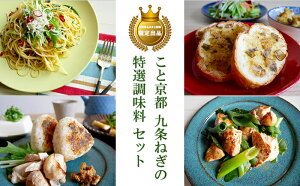 【ふるさと納税】〈こと京都〉九条ねぎの特選調味料セット