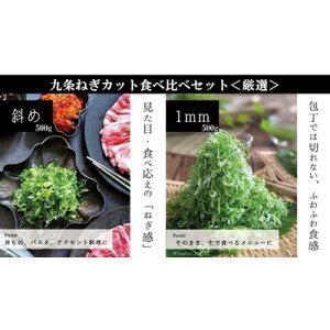 【ふるさと納税】〈こと京都(本社)〉九条ねぎカット食べ比べセット<厳選>