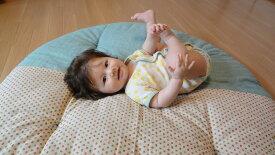 【ふるさと納税】赤ちゃんがほほ笑む寛ぎのアイテム せんべい座ぶとん【3色あられ・砧青磁】<洛中高岡屋>
