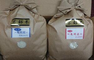 【ふるさと納税】契約農家の亀岡米食べ比べセット(コシヒカリ5kg、キヌヒカリ5kg)