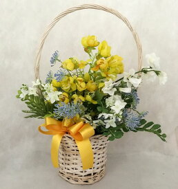 【ふるさと納税】<花古都>アートフラワー 花かご ≪フラワーアレンジメント 造花 ギフト≫