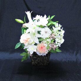 【ふるさと納税】アーティフィシャルフラワー カサブランカ ミックス アレンジ<花古都>《花 造花 フラワーアレンジメント 母の日 ギフト》