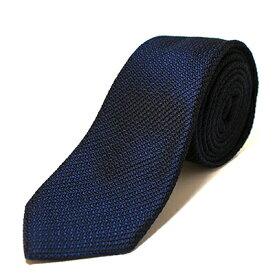 【ふるさと納税】KUSKA Fresco Tie 【ダークネイビー】 世界でも稀な手織りネクタイ【1099802】