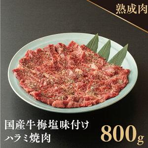 【ふるさと納税】オリジナル梅塩の味付け国産牛ハラミ 800g