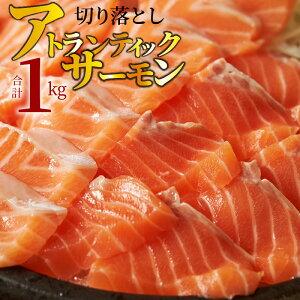 【ふるさと納税】アトランティックサーモン 切り落とし 大容量 1kg(500g×2パック)
