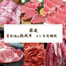 【ふるさと納税】牛肉 6ヶ月 定期便 氷温 (R) 熟成牛 国産牛 ステーキ しゃぶしゃぶ 切り落とし 赤身 スライス