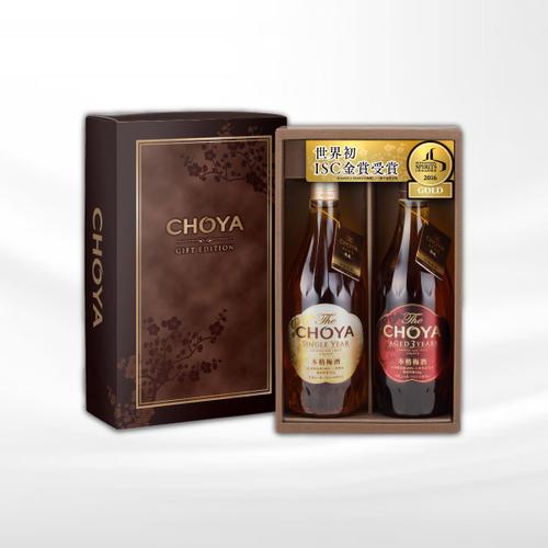 【ふるさと納税】チョーヤ 梅酒 The CHOYA AGED 3YEARSとSINGLE YEARの2本セットギフト15度 720ml