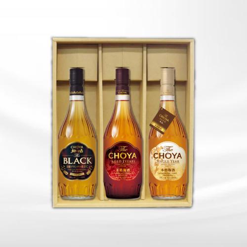 【ふるさと納税】チョーヤ 梅酒 The CHOYA AGED 3YEARSとSINGLE YEARとThe BLACK芳醇ブランデー仕立ての3本セットギフト15度 720ml
