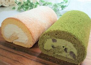 【ふるさと納税】上品な甘さ極上ロール☆松原プレミアムミルクロールケーキ(プレーン、抹茶各1本ずつ2個セット)