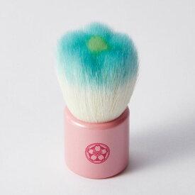 【ふるさと納税】フラワー洗顔ブラシ(ブルー) 職人が手作りするかわいいお花型洗顔ブラシ