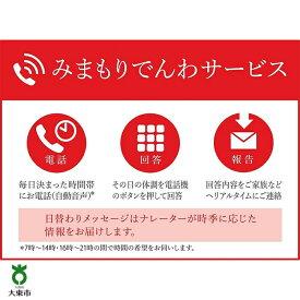 【ふるさと納税】みまもりでんわサービス(12か月)【携帯電話】