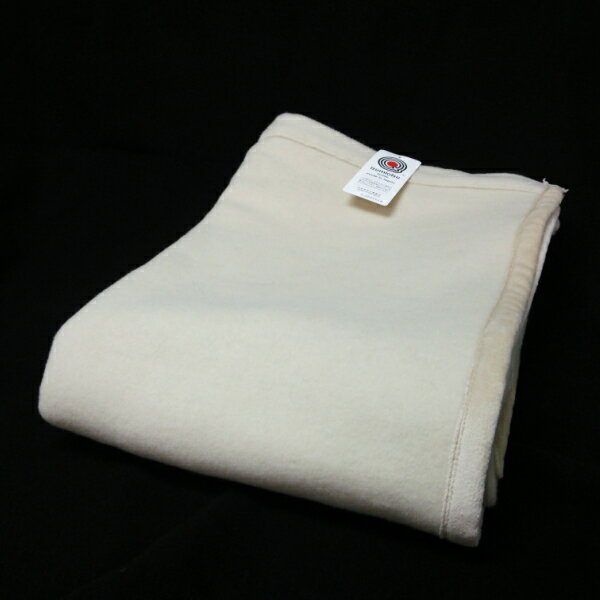 【ふるさと納税】ラムウール毛布ダブルサイズ ベージュ