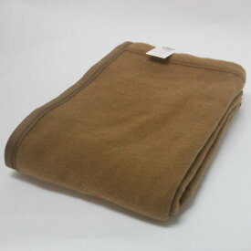 【ふるさと納税】キャメル毛布