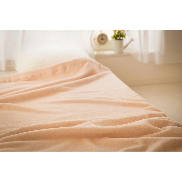 【ふるさと納税】綿100%綿毛布シングルサイズ・ベージュ色