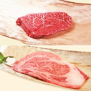 【ふるさと納税】【冷蔵便】神戸牛 ステーキセット 計300g(ロース&モモ 150g 各1枚)