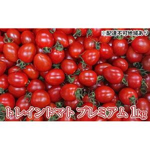【ふるさと納税】トレイントマト プレミアム 1kg 【野菜・ミニトマト】 お届け:2021年6月1日より順次発送予定