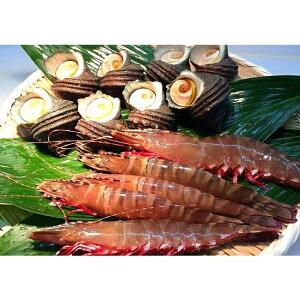 【ふるさと納税】A085*淡路島産天然足赤エビとサザエのセット