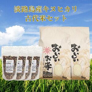 【ふるさと納税】BY32*淡路島のお米 キヌヒカリ10kgと古代米(800g)セット