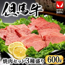 【ふるさと納税】 極上但馬牛焼肉セット3種盛り【600g】 / 肉 牛肉