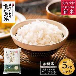 【ふるさと納税】コウノトリ育むお米無農薬(5kg×1袋)(94-002)