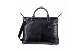 【ふるさと納税】豊岡鞄 皮革横型手提げ(ブラック) / カバン かばん ビジネスバック