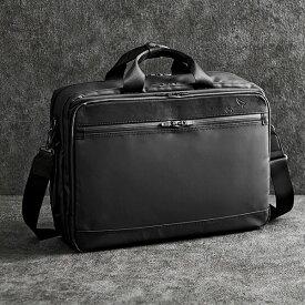 【ふるさと納税】豊岡鞄 craftsmanship W.P.3WAY 2ROOM(ブラック) / カバン かばん ビジネスバック