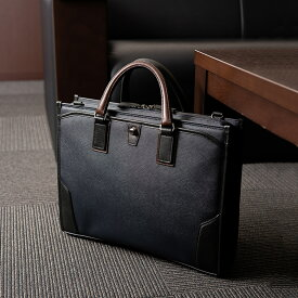 【ふるさと納税】ビジネス 豊岡鞄 craftsmanship3方OP(ネイビー) / カバン かばん ビジネスバック
